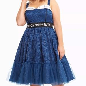 NEW Doctor Who Police Box Swing Dress